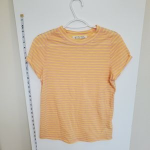 We the free large pink yellow mock neck top